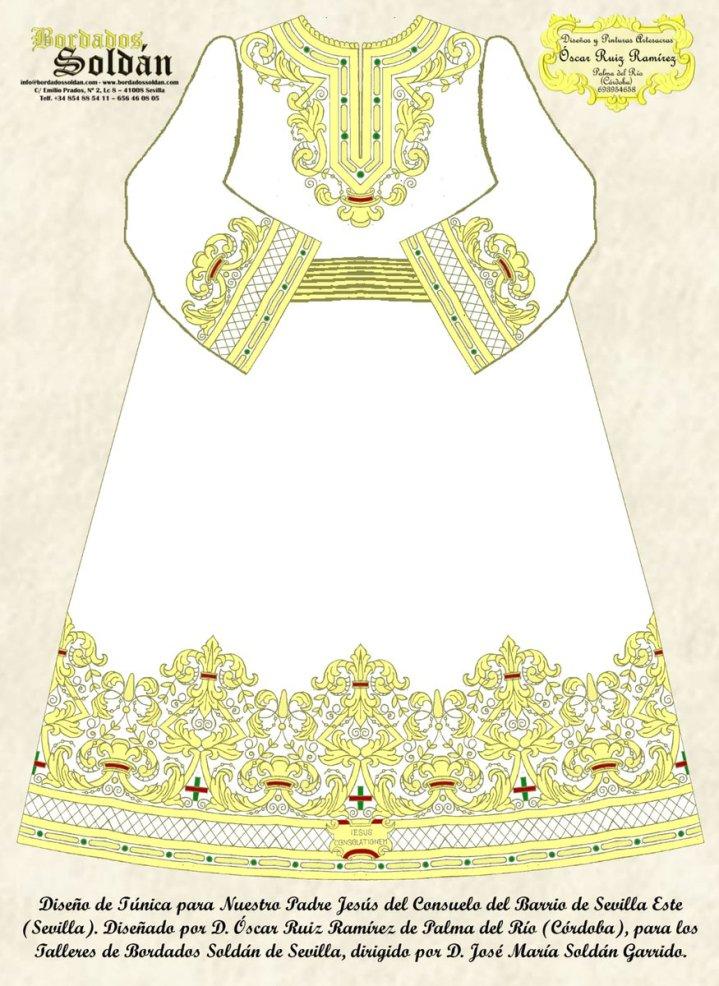 Nueva túnica del Señor del Consuelo de Sevilla Este