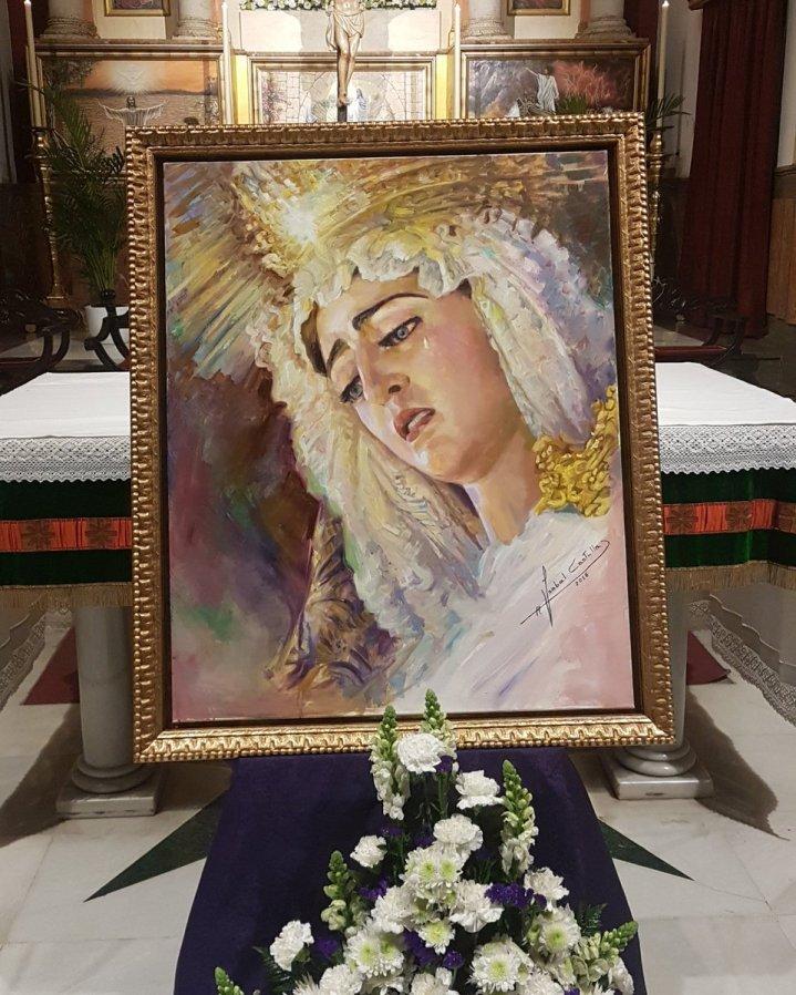 Cartel del 25.º aniversario de la coronación de la Virgen de la Ecarnación de San Benito