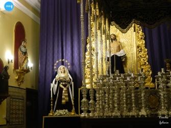Paso de palio de la Virgen de los Dolores y Misericordia de Jesús Despojado // Carlos Iglesia