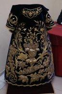 Saya de terciopelo azul para la Virgen del Mayor Dolor en su Soledad de la Carretería
