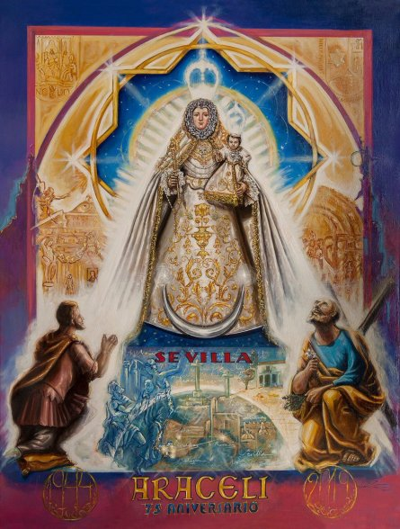 Cartel conmemorativo del 75.º aniversario de Araceli