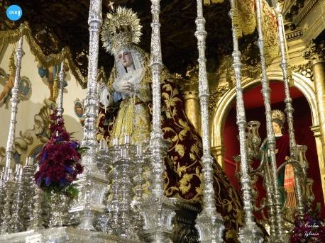 Virgen de las Mercedes de Santa Genoveva en su paso // Carlos Iglesia
