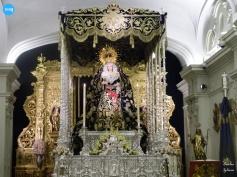Virgen de la Estrella con el palio de Rodríguez Ojeda // Carlos Iglesia
