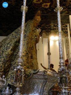 Virgen de las Lágrimas en su paso // Carlos Iglesia