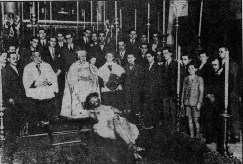 Bendición del crucificado de Illanes de la Lanzada