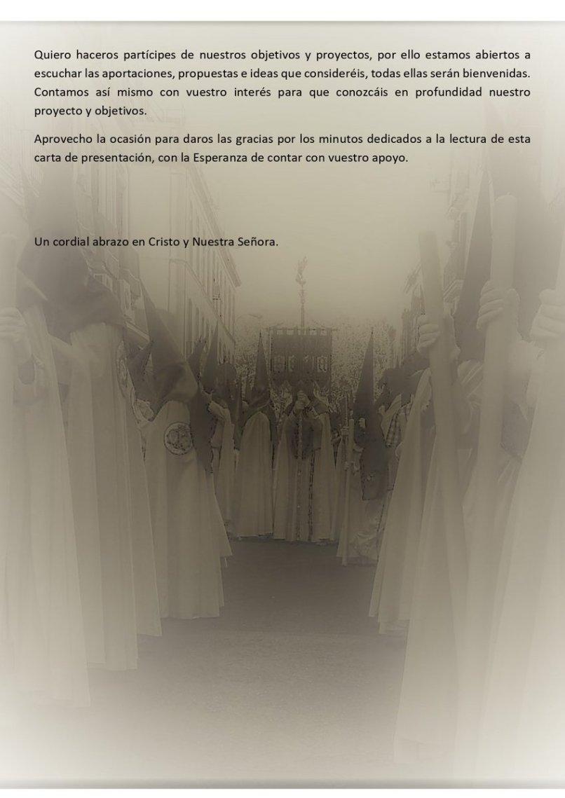 Carta de presentación de Sinesio Sánchez de la Lanzada