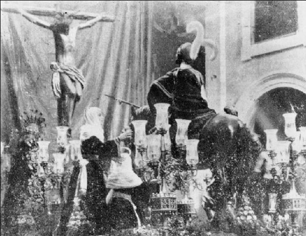 Cristo de los Desamparados del Santo Ángel en el misterio de la Lanzada