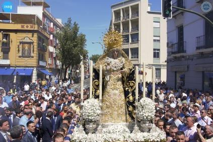Virgen de la Estrella en el traslado a San Jacinto // Jesús Elías