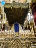 Paso de palio de la Virgen de los Ángeles de los Negritos para el rosario vespertino extraordinario por su coronación // Carlos Iglesia