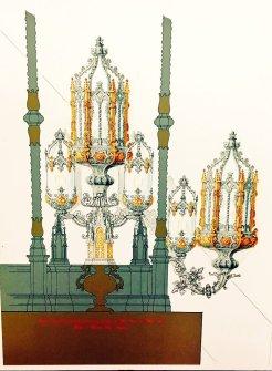 Proyecto de candelabros de cola para el paso de palio de la Virgen del Buen Fin de la Lanzada