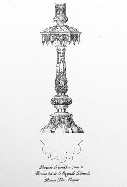 Proyecto de candelería para el paso de palio de la Virgen del Buen Fin de la Lanzada