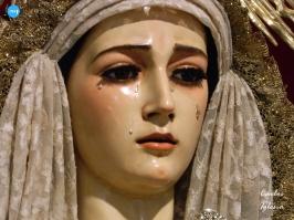 Virgen de la Soledad de los Servitas tras su restauración // Carlos Iglesia