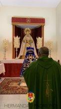 Nueva saya para la Virgen de la Divina Gracia de Padre Pío