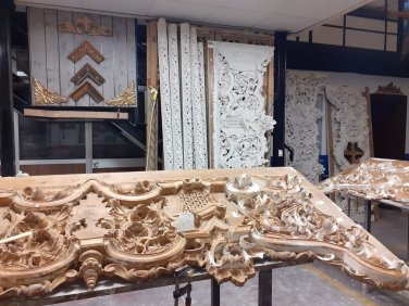 Restauración del dorado del misterio de San Benito