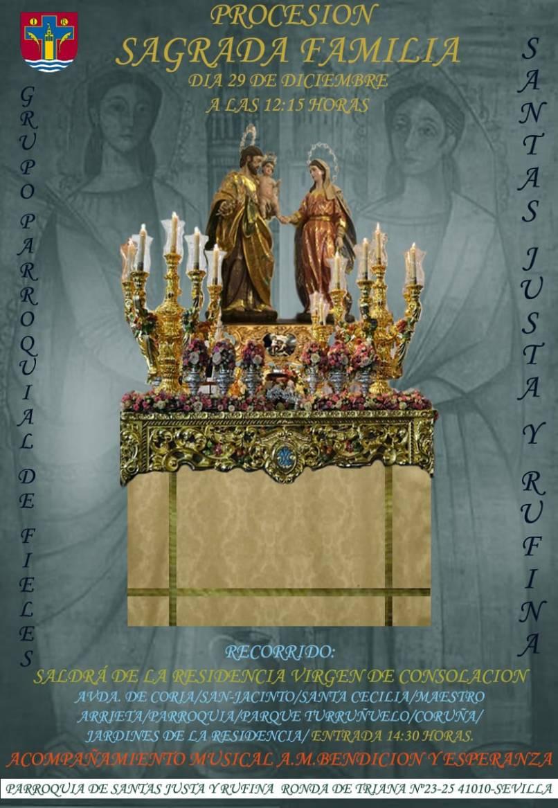 Cartel procesión de la Sagrada Familia