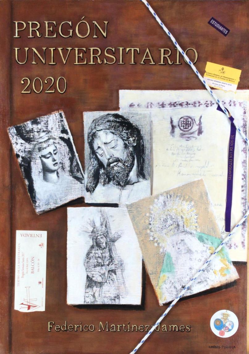 Cartel del pregonero universitario