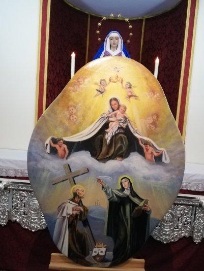 Respiraderos y gloria de techo de palio de Padre Pío