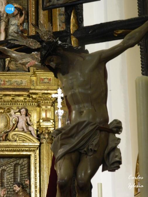 Cristo del Mayor Dolor del Dulce Nombre tras su restauración // Carlos Iglesia
