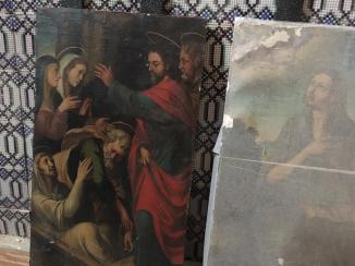 Obras retablo mayor de San Lázaro