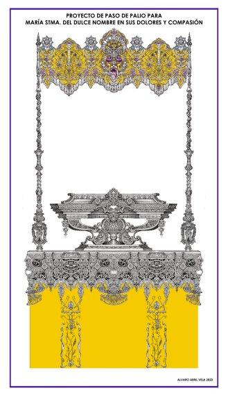Diseño del paso de palio de la Virgen del Dulce Nombre de Bellavista