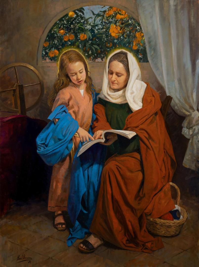 Pintura de Raúl Berzosa para la Esperanza de Triana