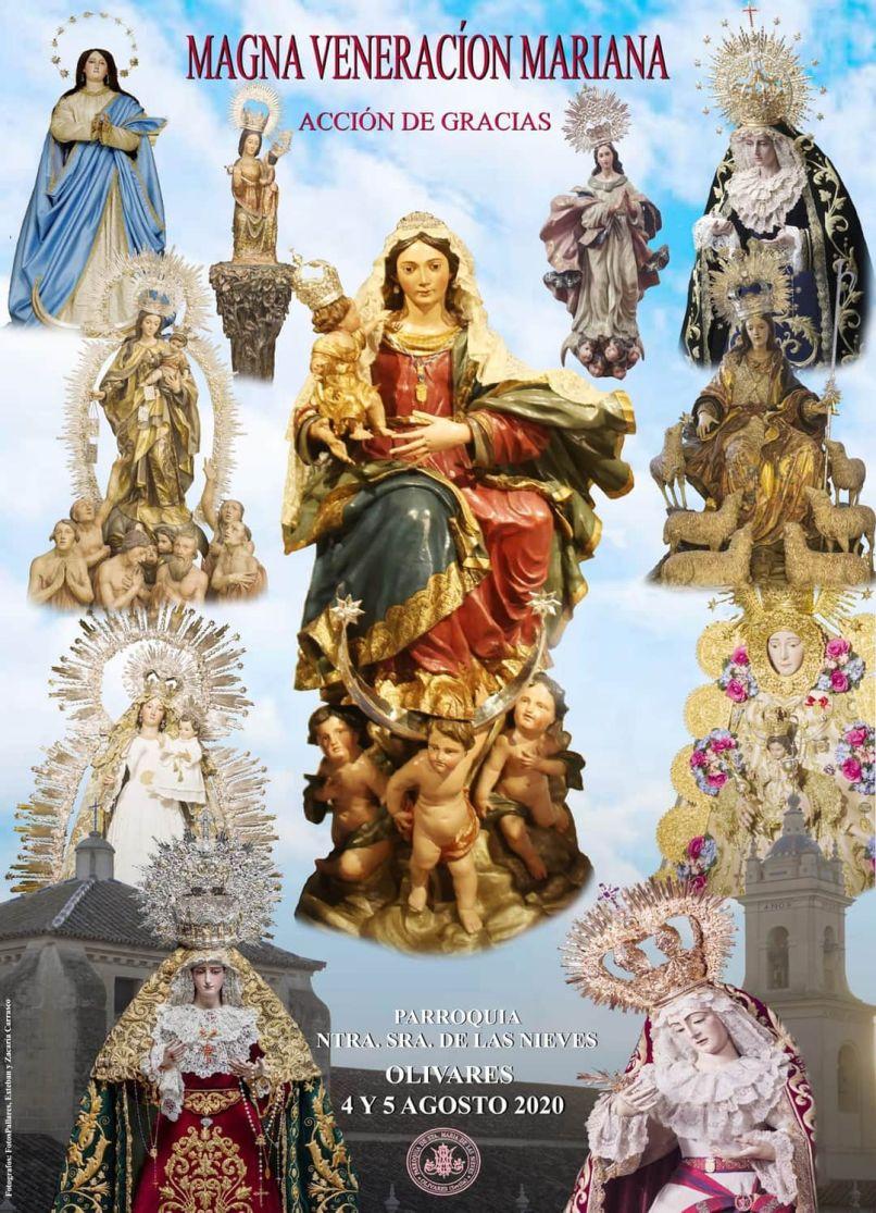 Cartel de la magna veneración mariana de Olivares