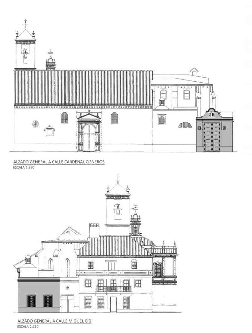 Boceto de obras de casa hermandad de las Siete Palabras