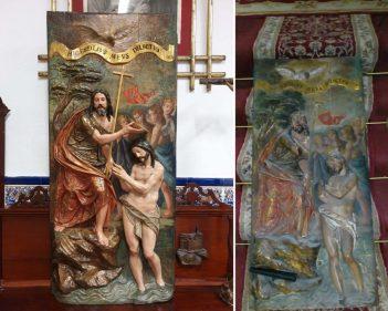 El Bautismo de Cristo del convento de San Leandro