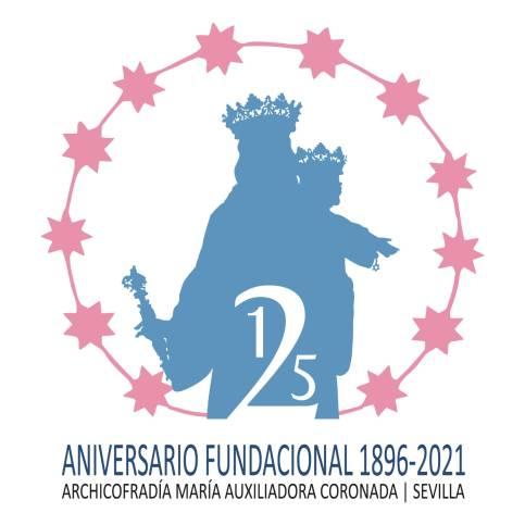Cartel y logotipo de María Auxiliadora