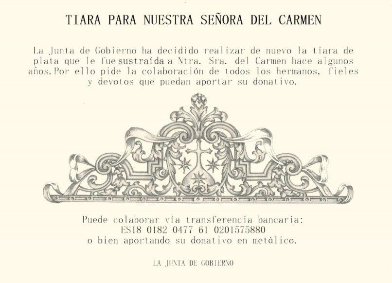 Triara para la Virgen del Carmen del Santo Ángel