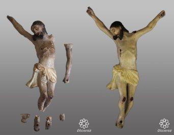 Cristo de pasta de maiz del Santo Ángel