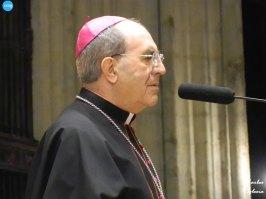 Juan José Asenjo en el Viacrucis de las hermandades presidido por el Cristo de la Corona // Carlos Iglesia