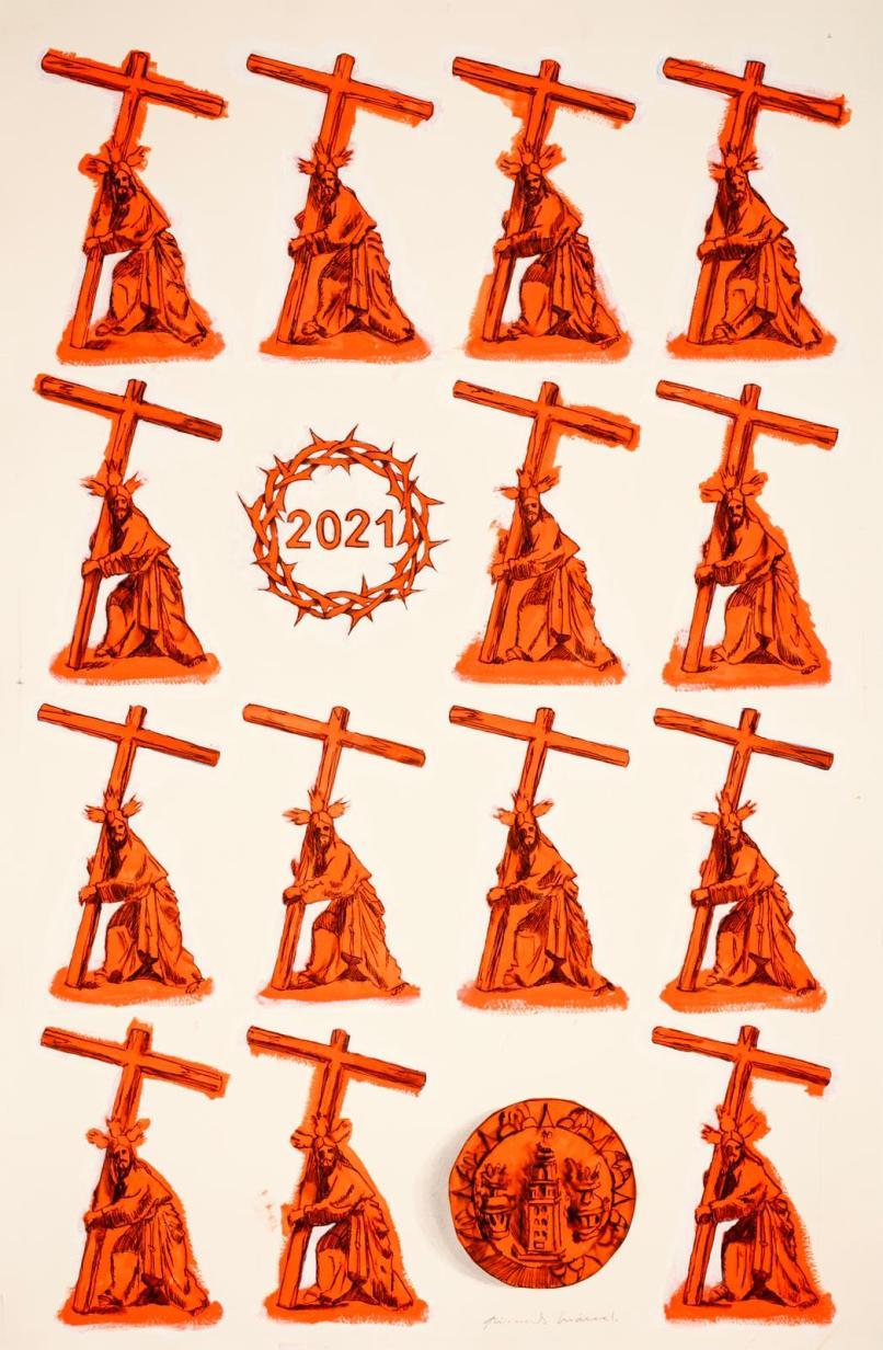 Cartel del viacrucis de las hermandades
