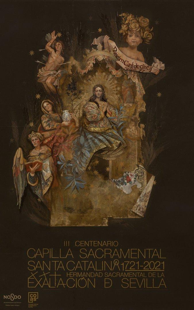 Cartel 300 años capilla sacramental de Santa Catalina