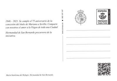 Sello y postales de San Bernardo