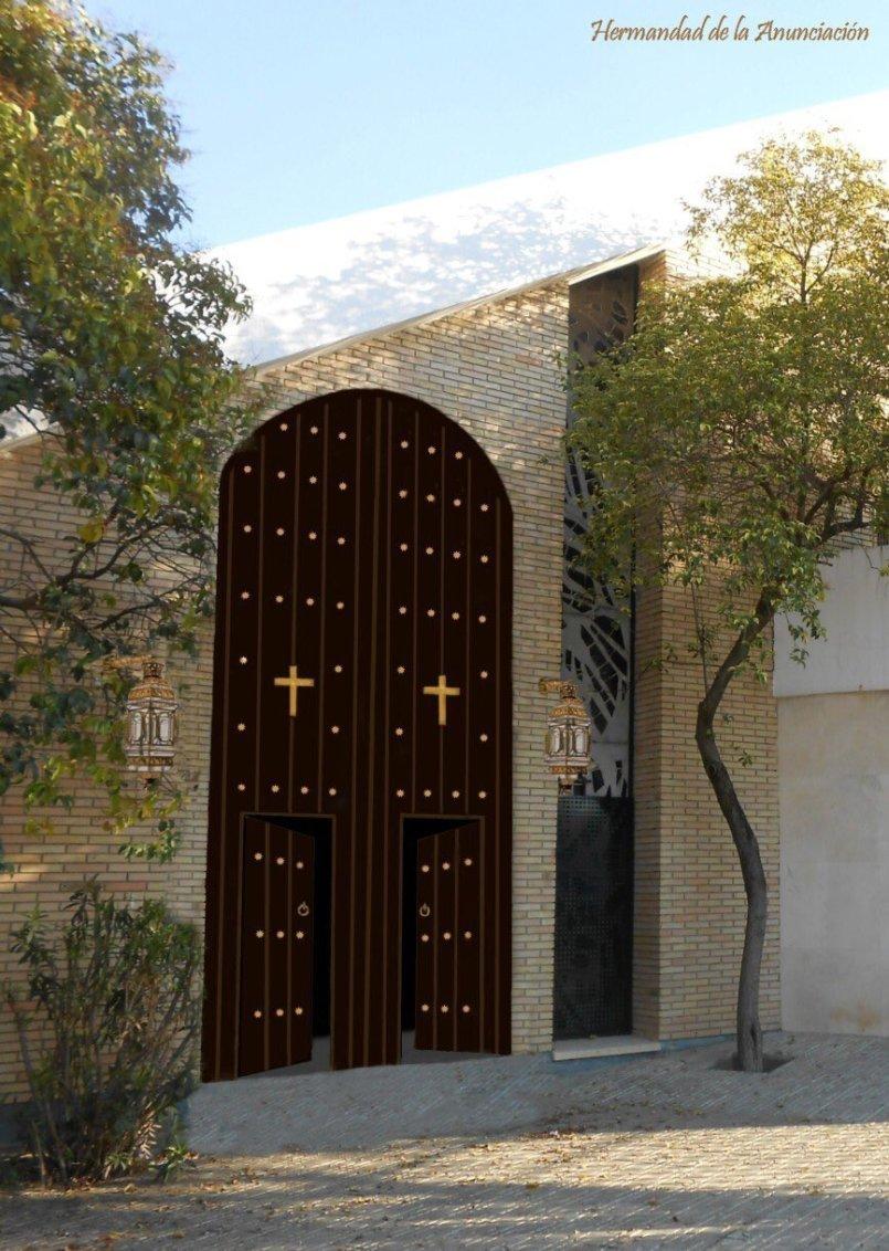 Diseño de la puerta de la Anunciación de Juan XXIII