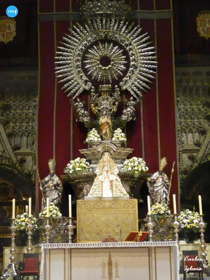 Virgen de los Reyes en el altar del jubileo // Carlos Iglesia