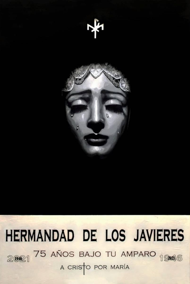 Cartel del 75.º aniversario de la Virgen de Gracia y Amparo de los Javieres