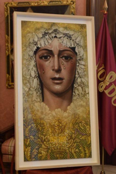 Cartel del 50 aniversario de la medalla de oro a la Virgen de la Esperanza Macarena // Ángela Vilches