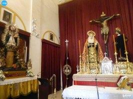 Titulares del Cristo de Burgos, Pilar y la Sacramental de San Pedro en la capilla casa hermandad del Cristo de Burgos // Carlos Iglesia