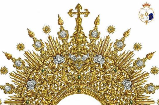 Diseño de la nueva diadema para la Virgen del Rocío de la Redención