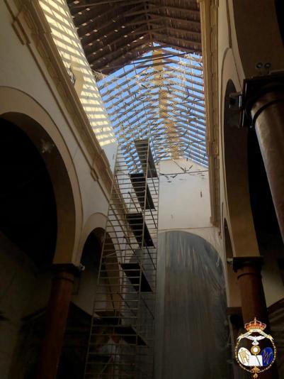 Iglesia de Santiago en obras